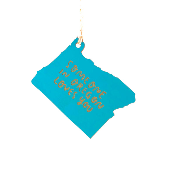Photograph of Laser-engraved 'Someone in Oregon Loves You' Ornament - Large