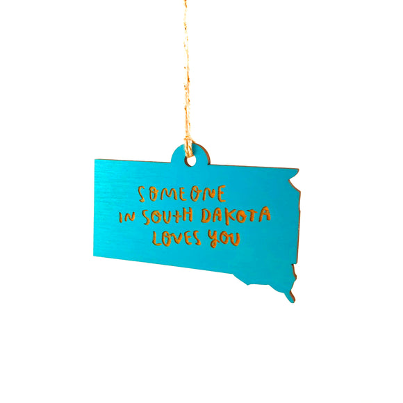 Photograph of Laser-engraved 'Someone in South Dakota Loves You' Ornament - Large
