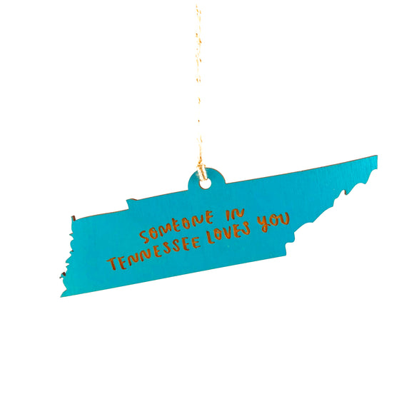 Photograph of Laser-engraved 'Someone in Tennessee Loves You' Ornament - Large