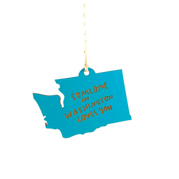 Photograph of Laser-engraved 'Someone in Washington Loves You' Ornament - Large