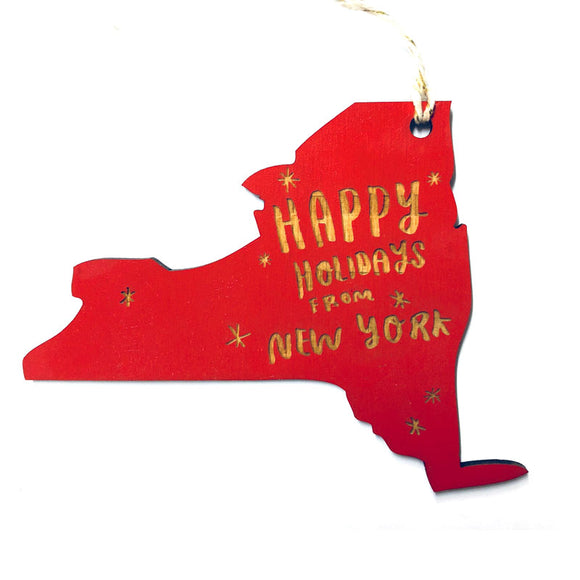 Photograph of Laser-engraved 'Happy Holidays from New York' Ornament - Large