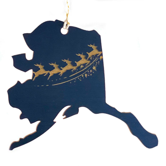 Photograph of Laser-engraved Alaska Reindeer Ornament - Small
