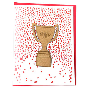 Laser-engraved 'Dad' Trophy Magnet with Card