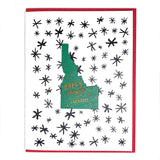 Photograph of Laser-engraved Happy Holidays from Idaho Magnet with Card