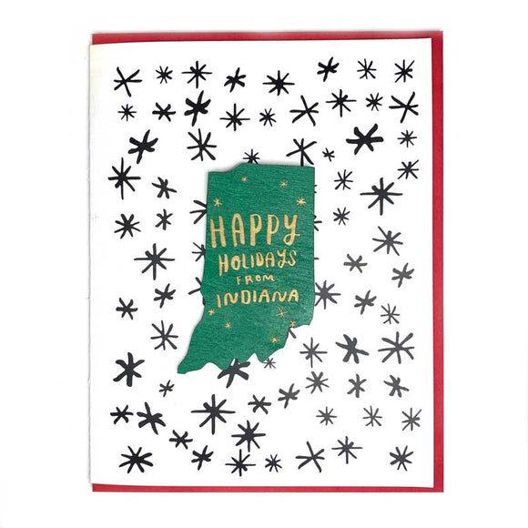 Photograph of Laser-engraved Happy Holidays from Indiana Magnet with Card