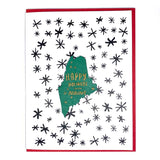 Photograph of Laser-engraved Happy Holidays from Maine Magnet with Card