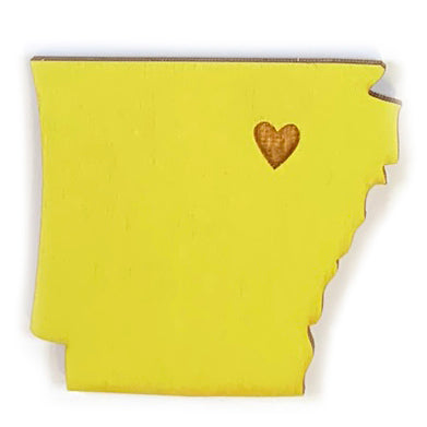 Photograph of Laser-engraved Arkansas Heart Magnet