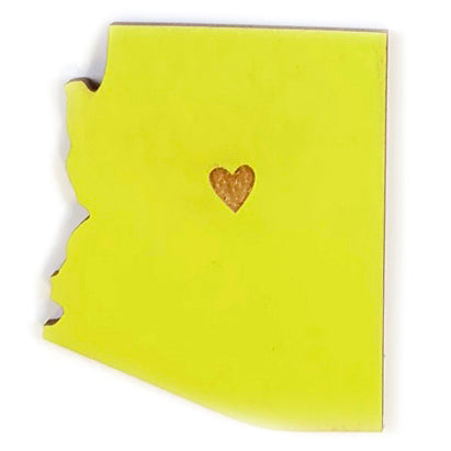 Photograph of Laser-engraved Arizona Heart Magnet