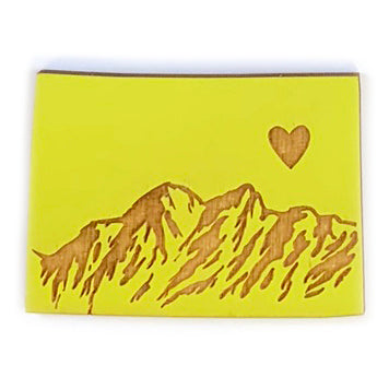 Photograph of Laser-engraved Colorado Heart Magnet
