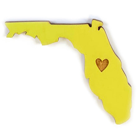 Photograph of Laser-engraved Florida Heart Magnet