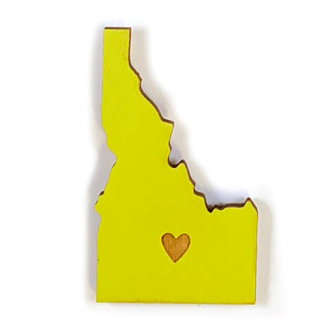 Photograph of Laser-engraved Idaho Heart Magnet