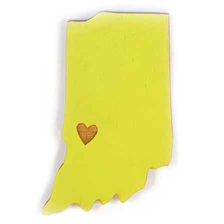 Photograph of Laser-engraved Indiana Heart Magnet
