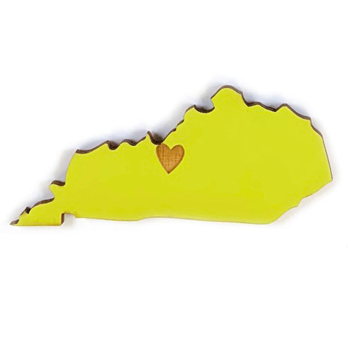 Photograph of Laser-engraved Kentucky Heart Magnet