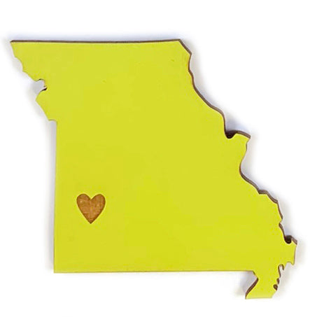 Photograph of Laser-engraved Missouri Heart Magnet