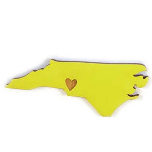 Photograph of Laser-engraved North Carolina Heart Magnet