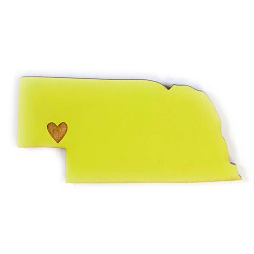 Photograph of Laser-engraved Nebraska Heart Magnet