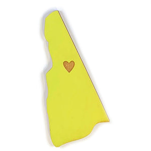 Photograph of Laser-engraved New Hampshire Heart Magnet