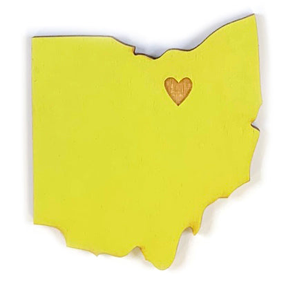 Photograph of Laser-engraved Ohio Heart Magnet