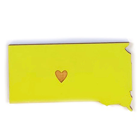 Photograph of Laser-engraved South Dakota Heart Magnet