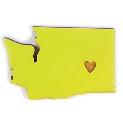 Photograph of Laser-engraved Washington Heart Magnet