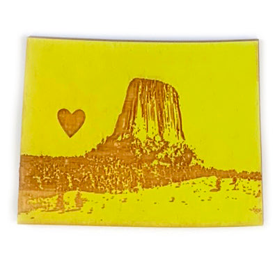 Photograph of Laser-engraved Wyoming Heart Magnet