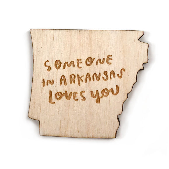 Photograph of Laser-engraved 'Someone in Arkansas Loves You' Magnet