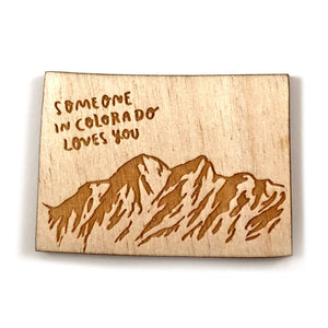 Photograph of Laser-engraved 'Someone in Colorado Loves You' Magnet