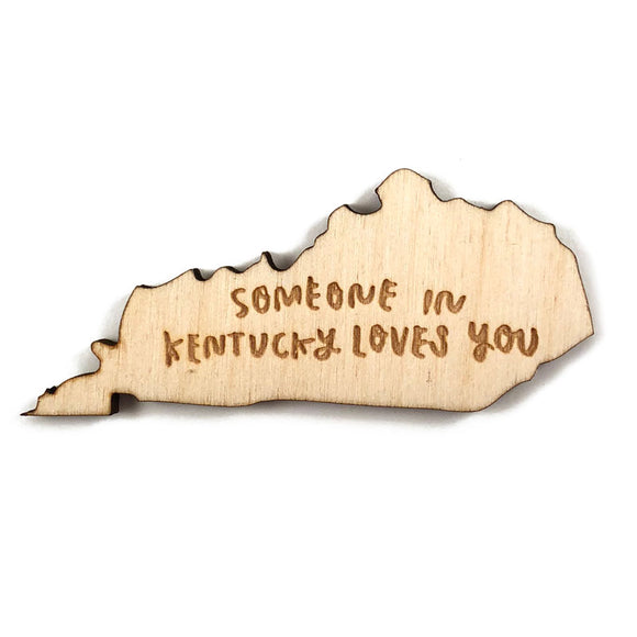 Photograph of Laser-engraved 'Someone in Kentucky Loves You' Magnet