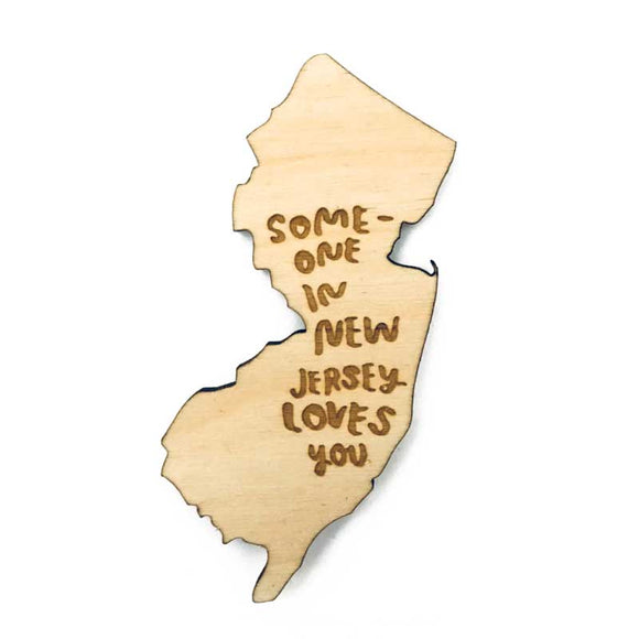 Photograph of Laser-engraved 'Someone in New Jersey Loves You' Magnet