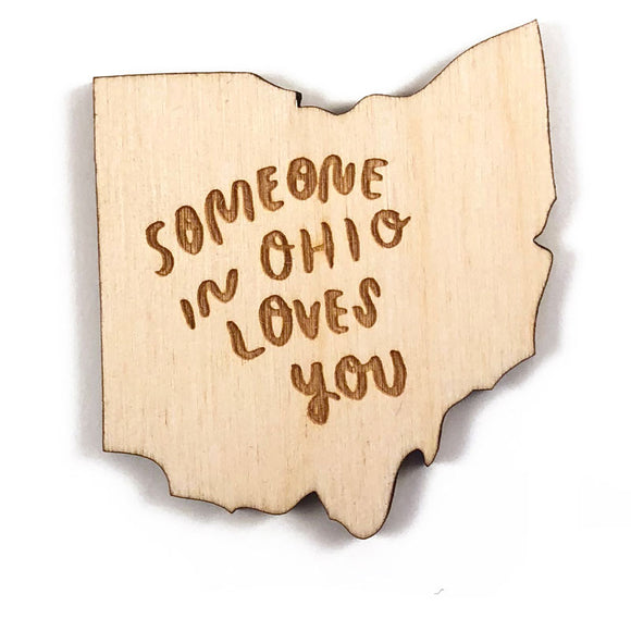 Photograph of Laser-engraved 'Someone in Ohio Loves You' Magnet
