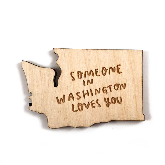 Photograph of Laser-engraved Someone in Washington Loves You Magnet