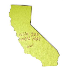 Photograph of Laser-engraved 'Wish You Were Here' California Magnet