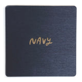 Photograph of a navy color swatch