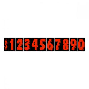 "7.5"" Windshield Numbers - Black & Fire Red (#355)"