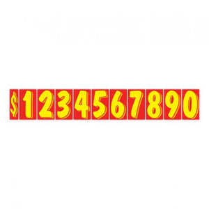 "7.5"" Windshield Numbers- Red & Yellow (#356)"