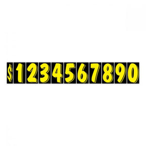 "7.5"" Windshield Numbers - Black & Yellow (#358)"