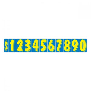 "7.5"" Windshield Numbers - Blue & Yellow (#359)"