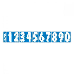 "7.5"" Windshield Numbers - Blue & White (#362)"