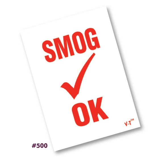 Smog Inspection Stickers (#500)