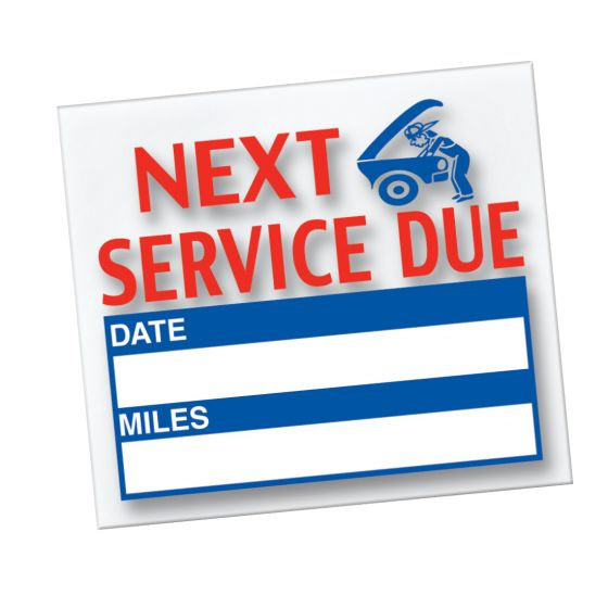 Service Reminder Decals (#567)