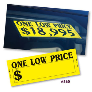 """One Low Price"" Window Stickers (#860)"