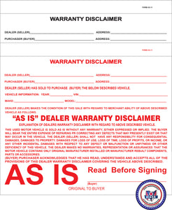 AS-IS Disclaimers (SS-11)