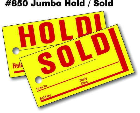 Jumbo Hold / Sold Tags  (#850)