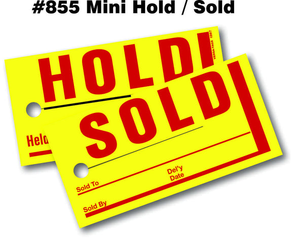 Mini Hold / Sold Tags # 855