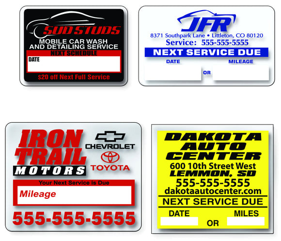 Custom Imprinted Service Loyalty Reminders