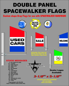Double Panel Stock Spacewalker Flags