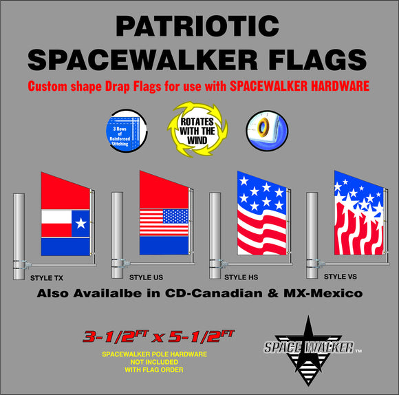 Patriotic Spacewalker Flags