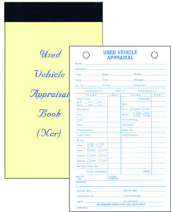 Used Vehicle Appraisal Pads SS-7