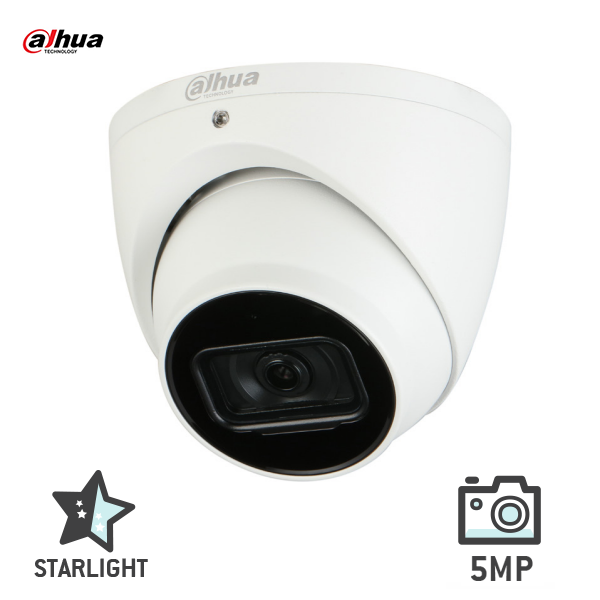 Dahua IPC-HDW2531EMP-AS-0280 5MP Starlight IP 30m IR Turret Camera