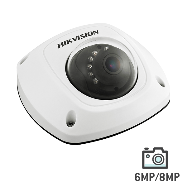 Hikvision 6 MP WDR Network Mini Dome Camera with Mic